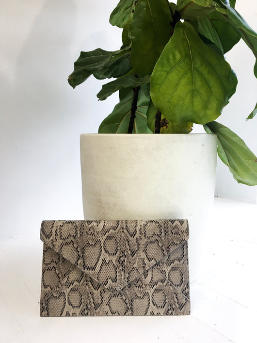 Envelope Clutch in Reptile Print