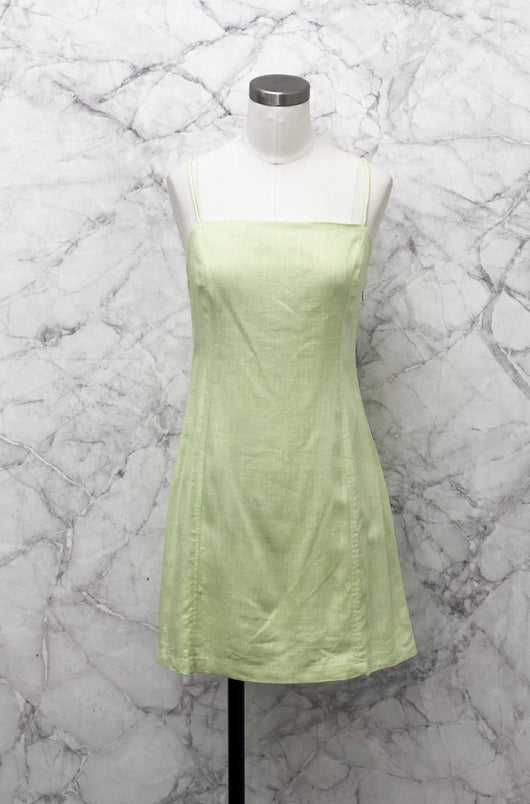 Sprite Minidress in Lime - Final Sale