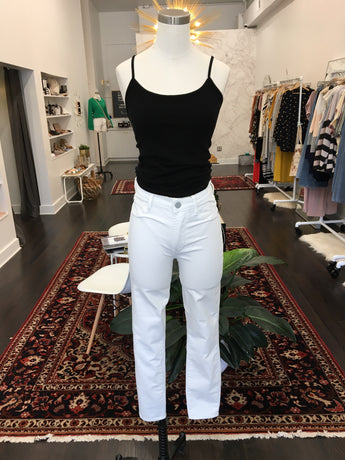 Heather Skinny Denim in White - Final Sale