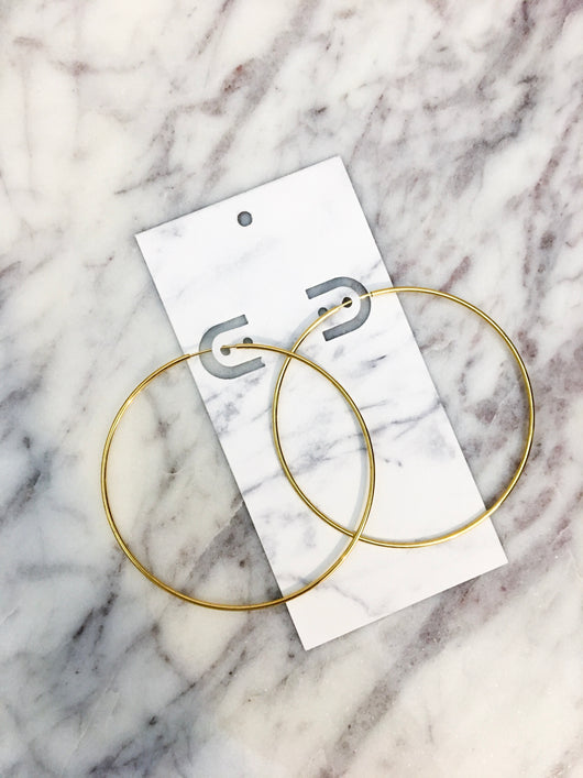 Christina Hoops in Gold