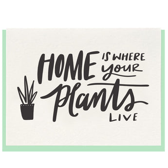 Home Plants Card