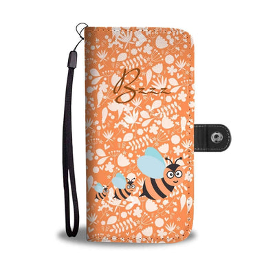 Cute Bee - RFID-Blocking Wallet Case [Orange]
