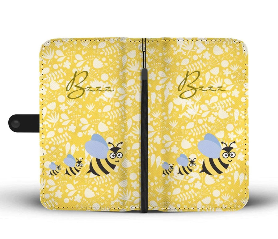 Cute Bee - RFID-Blocking Wallet Case [Yellow]