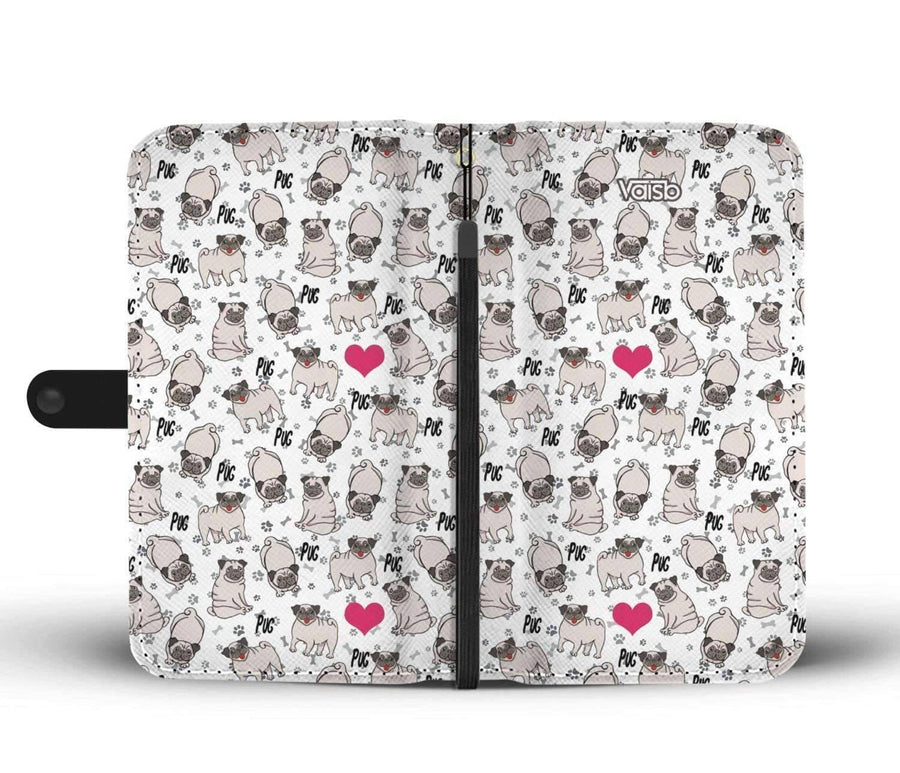 Cute Pugs - RFID-Blocking Wallet Case