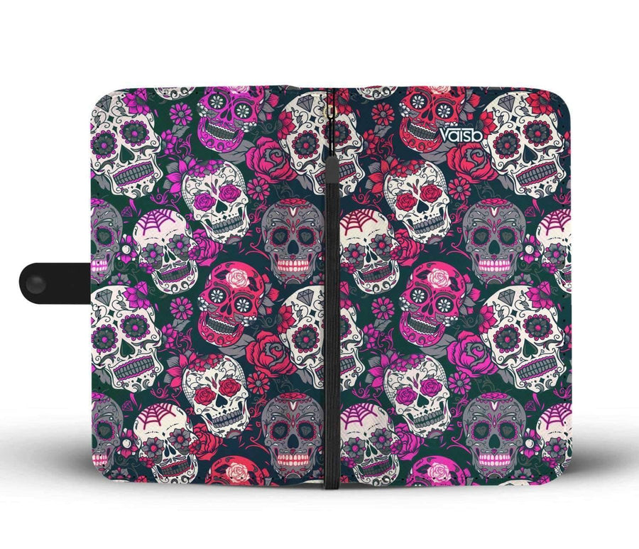 Sugar Skull - Custom Made RFID-Blocking Wallet Case