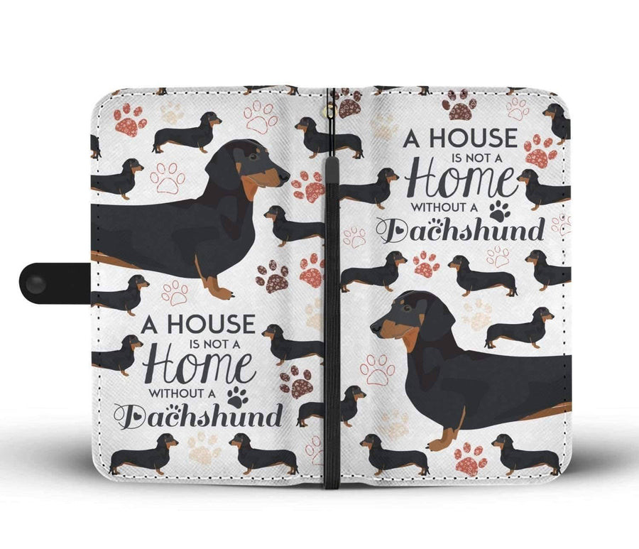 A House Is Not A Home Without A Dachshund - Custom Print RFID-Blocking Wallet Case