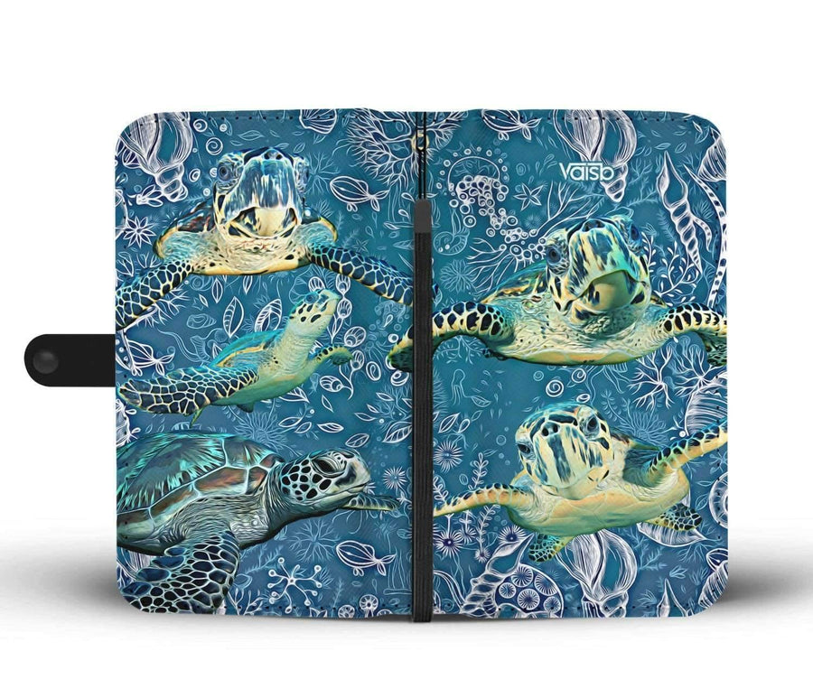 Sea Turtle - Custom Print RFID-Blocking Wallet Case