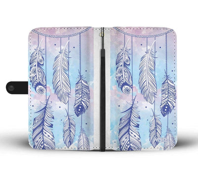 Dreamcatcher Feathers - Custom Print RFID-Blocking Wallet Case