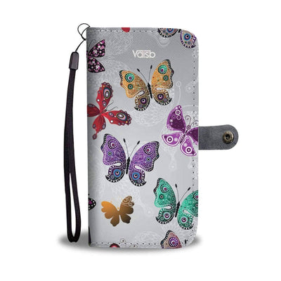 Colorful Butterflies - Custom Print RFID-Blocking Wallet Case