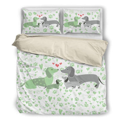 Bedding - Dachshund - Bedding Set (Beige)
