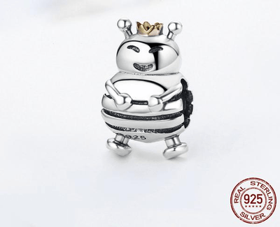Bee Charm - 925 Sterling Silver Fits Original Pandora Charm Bracelet