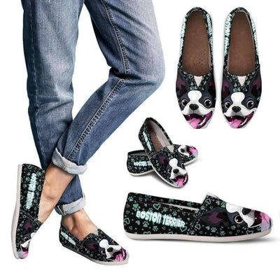 Boston Terrier - Women's Casual Shoes (Black)