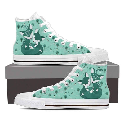High Top Sneakers - FOX Shoes - Women's High Top Sneakers In White