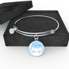 Jewelry - Meow Cat - Adjustable Bangle Bracelet (Baby Blue)