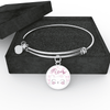 Jewelry - Meow Cat - Adjustable Bangle Bracelet (White)