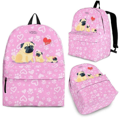 Kids Backpacks - Cute Pug - Backpack