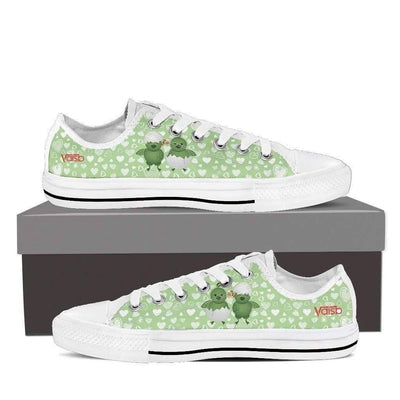 Low Top Sneakers - Cute Chicken Shoes - Womens Low Top Sneakers In White