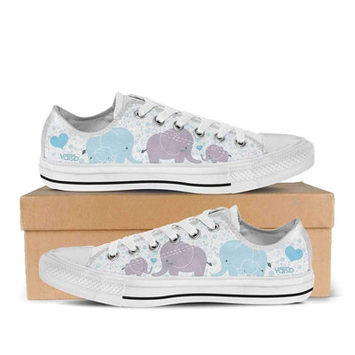 Low Top Sneakers - NEW Elephant - Women's Low Top Sneakers In White