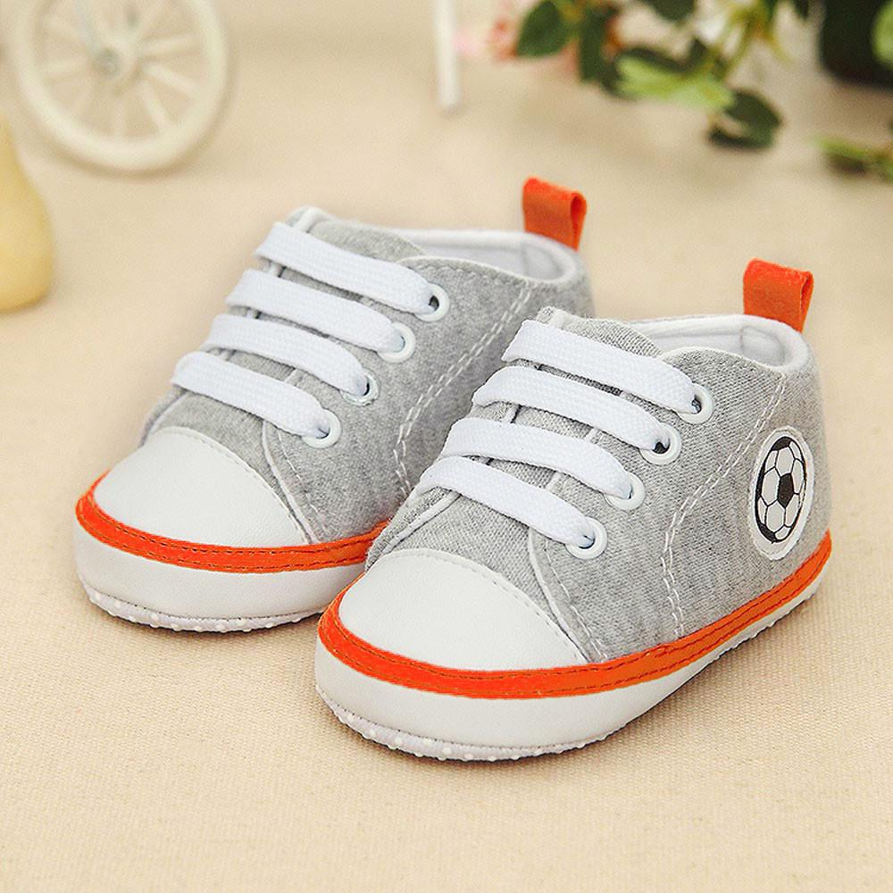 2372ebf461f4e Infant Toddler Kids Canvas Sneakers Baby Boys Girls Anti-slip Soft Sole  Crib Shoes Newborn