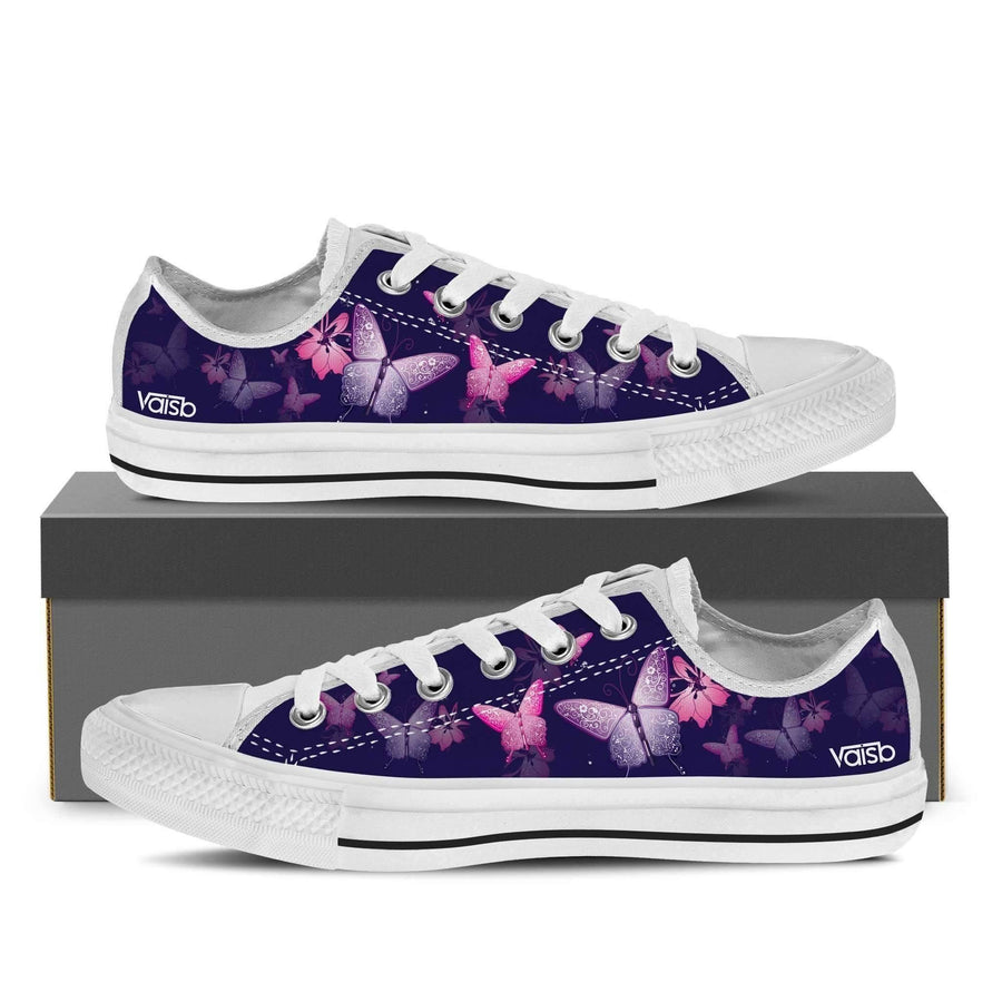 Shoes - Butterfly - Women's Low Top Canvas Sneakers