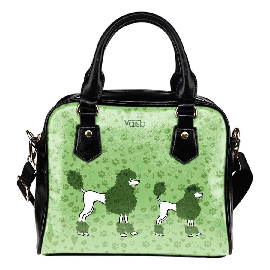 Shoulder Handbag - Cute Poodle Shoulder Handbag