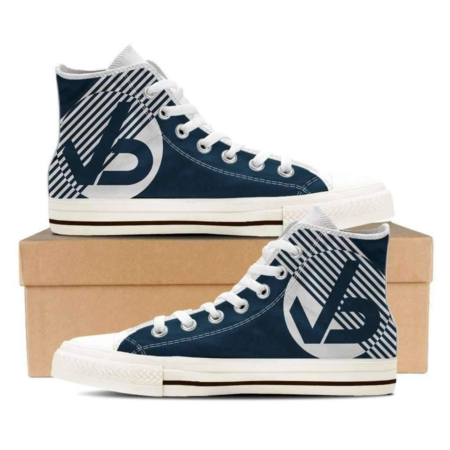 White - Men's High Top Canvas Sneakers