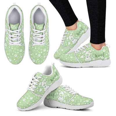 Womens Athletic Sneakers - Cute Dog Athletic Sneakers - Breathable And Lightweight