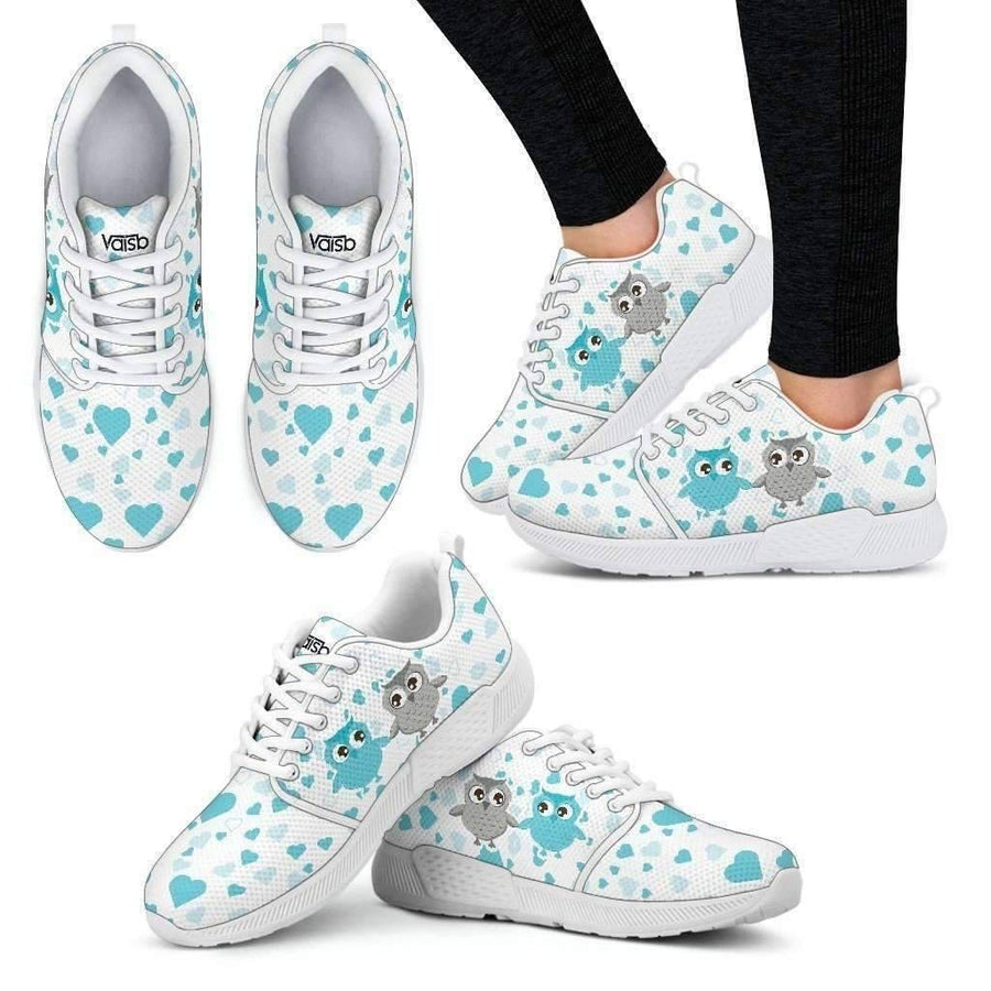 Womens Athletic Sneakers - Cute Owl - Women's Premium Quality Faux Fur Boots