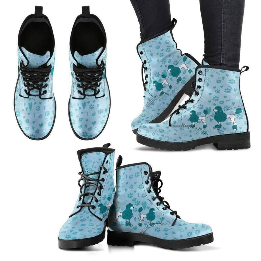Womens Leather Boots - Cute Poodle Leather Boots