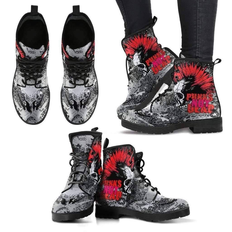 Womens Leather Boots - Punk Rock - Women's Leather Boots