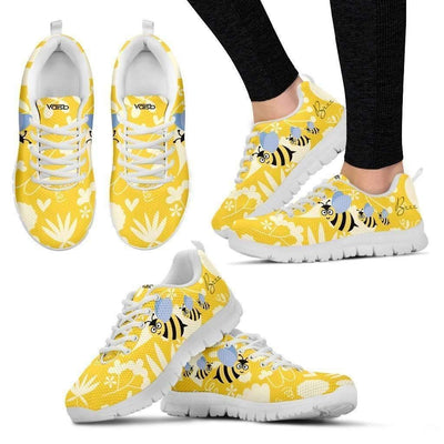 Womens Runners - Cute Bee -  Breathable & Lightweight Women's Running Shoes