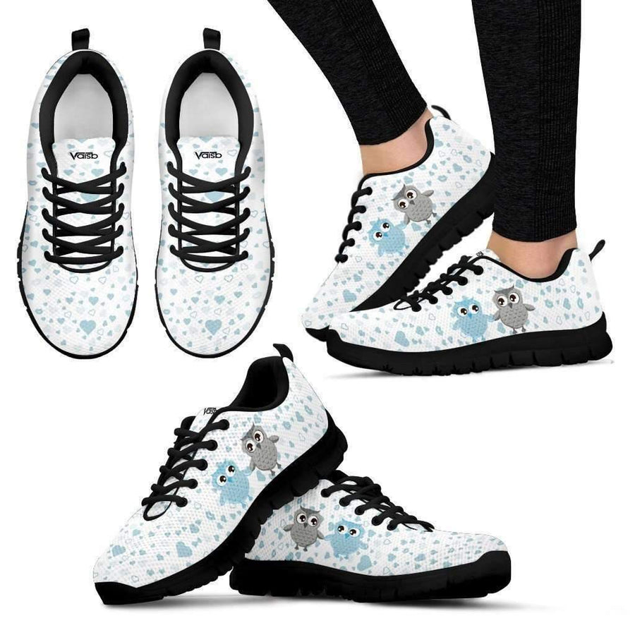 Womens Runners - Womens Cute Owl - Breathable & Lightweight Running Shoes
