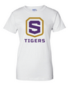 Women's White Cotton Short Sleeve T-Shirt | Tigers Shield