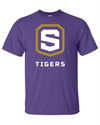 Adult Purple Cotton Short Sleeve T-Shirt | Tigers Shield