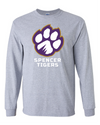 Adult Long Sleeve Cotton Shirt | Full-Front Paw