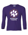 Youth Long Sleeve Cotton Shirt | Full-Front Paw