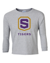 Youth Long Sleeve Cotton Shirt | Tigers Shield