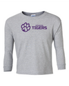 Youth Long Sleeve Cotton Shirt | Horizontal Paw