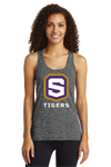 Women's Electric Heather Racerback Tank | Tigers Shield