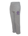 Youth Jerzees NuBlend Open Bottom Sweatpants | Paw Logo