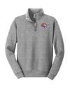 Youth Nublend 1/4 Zip Sweatshirt  | Tiger Head Embroidery