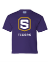 Youth Purple Cotton Short Sleeve T-Shirt | Tigers Shield