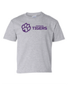 Youth Cotton Short Sleeve T-Shirt | Horizontal Paw