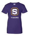 Women's Purple Cotton Short Sleeve T-Shirt | Tigers Shield