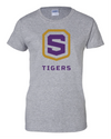 Women's Sport Grey Cotton Short Sleeve T-Shirt | Tigers Shield