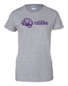 Women's Cotton Short Sleeve T-Shirt | Horizontal Tiger