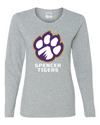 Women's Heavy Cotton Long Sleeve T-Shirt | Full-Front Paw