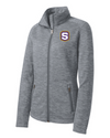 Women's Grey Digi Stripe Fleece Jacket  | S-Shield Embroidery