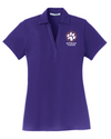 Women's Silk Touch Y-Neck Polo | Spencer Tigers Paw Embroidery