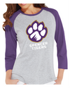Women's Baseball T-Shirt | Full-Front Paw
